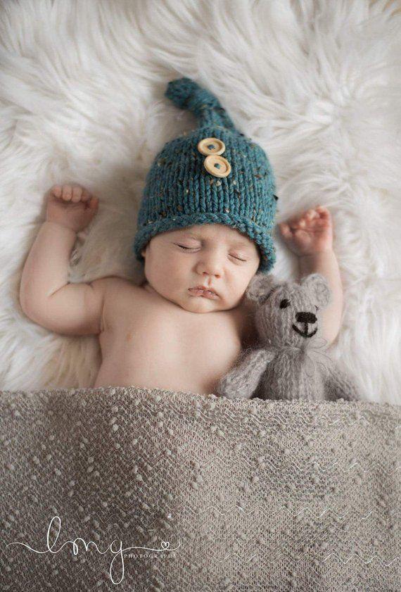 Newborn Baby Elf Hat Knitting Pattern Elf Beanie Pattern Baby