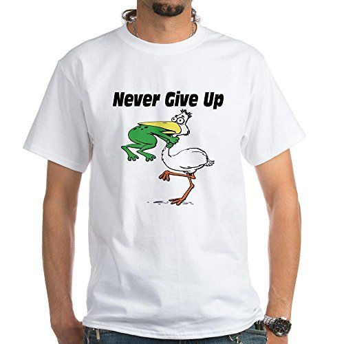 CafePress - Never Give Up Stork and Frog White T-Shirt - ... https://www.amazon.com/dp/B00WXHIB0Y/ref=cm_sw_r_pi_dp_x_xQVaybPZWAVE4