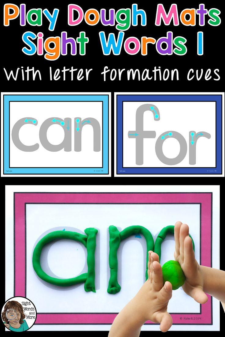 99 best kindergarten activities images on pinterest kindergarten playdough mats sight words set 1 high frequency wordsletter formationlearn mitanshu Image collections