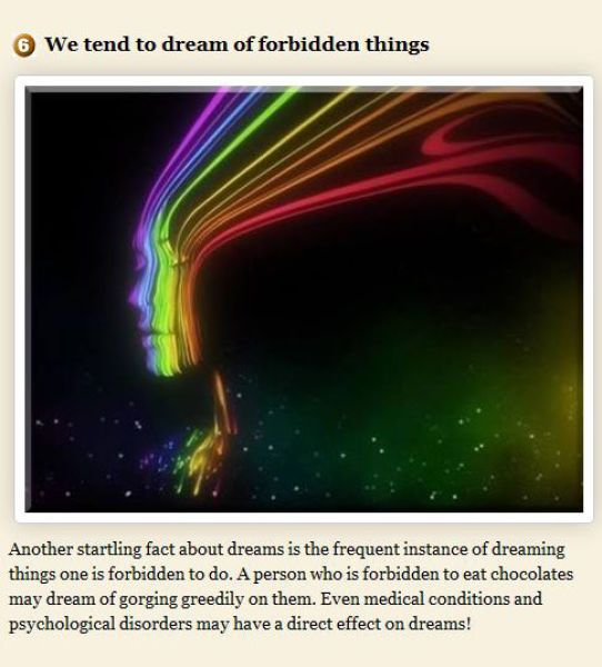 dreams facts | 12 Interesting Facts About Dreams - humorsharing.com