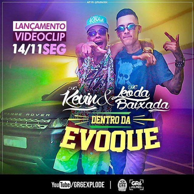 Amanhã tem lançamento de videoclipe explosivo do Kevin e Leo da baixada - Dentro da evoque  Fica ligado!!! Art by: Filipagem  ________________________  #lançamento #amanhã #segunda #feira #no #canal #gr6explode #embreve #designer #artistic #photoshop #illustration #arte #brasil #flyer #amazing #graphicdesign #artwork #videoclip #mc #funk #youtube #creative #instagram #criatividade #boanoite #criativo #goodnight