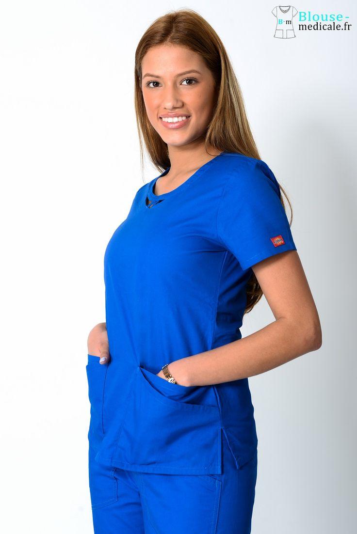 Blouse Dickies Médical Femme 85810 Bleu Royal