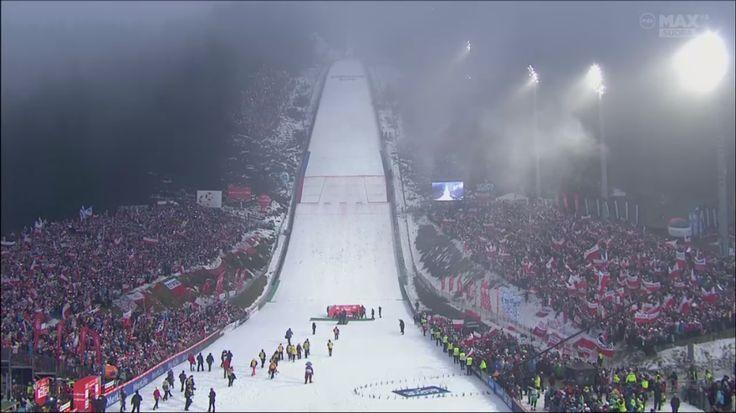 Zakopane = Red and white wonderland. Also called FIS World Cup Ski Jumping in Zakopane. Looks good. Great experience LIVE.