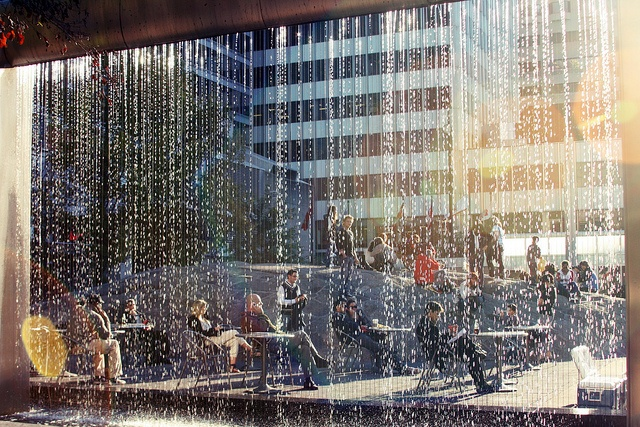 Yorkville waterfall (Toronto, ON) by Simon Remark (Ecstatic Photography), via Flickr