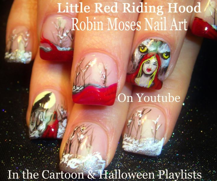 Robin Moses Nail Art Little Red Riding Hood and BBW.