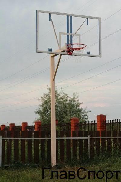 Стойка баскетбольная, стационарная,стандартный вынос 1,2 м
