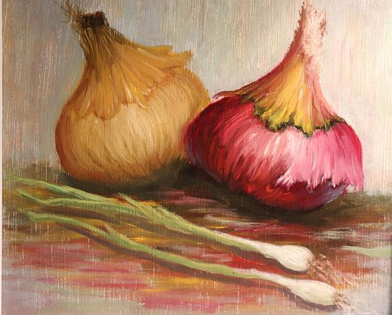 Oil Painting on wood. 8X8inch The white frame is NOT included. This is the perfect decoration for a dining room, summer house, restaurant. Can be used as kitchen decor. Painted with professional oil colors on the wooden panel and covered by special varnish to ensure the colors stay bright.
