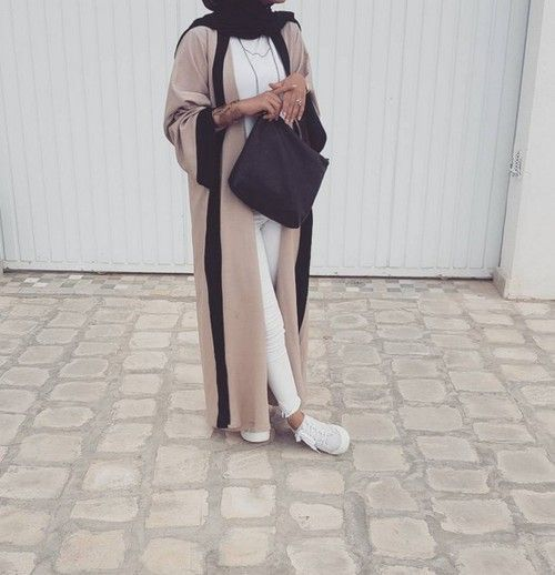 neutral dubai abaya style