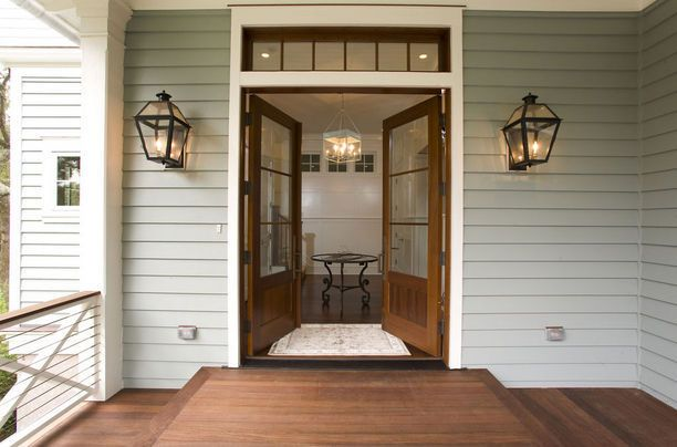 .: Interior, Beach House, Lighting Fixture, Color, Double Doors, Front Doors, Front Entry, House Exterior, House Plans
