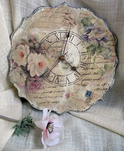 """Часы для дома ручной работы. Ярмарка Мастеров - ручная работа Часы """"Старинная история"""". Handmade."""