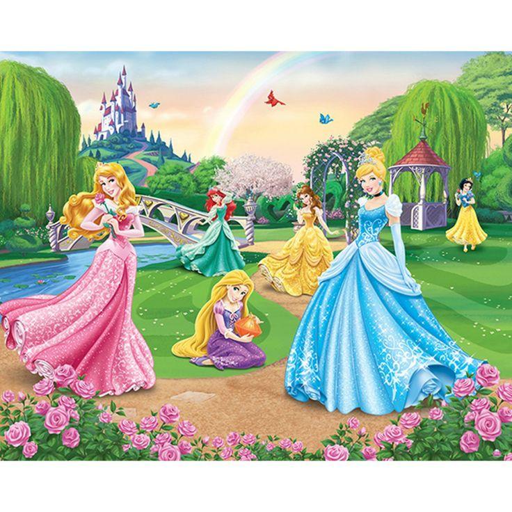 Disney Prinsessen behang van Walltastic