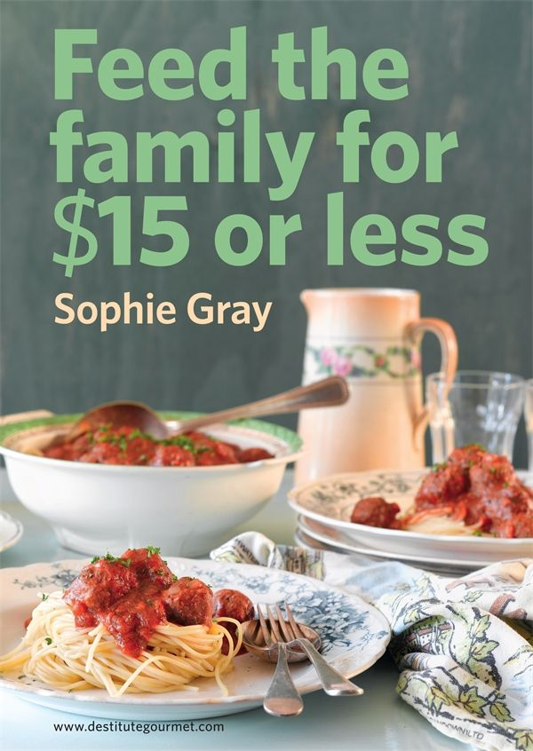 The perfect cookbook for families on a budget, from the amazing women who bought us Destitute Gourmet.