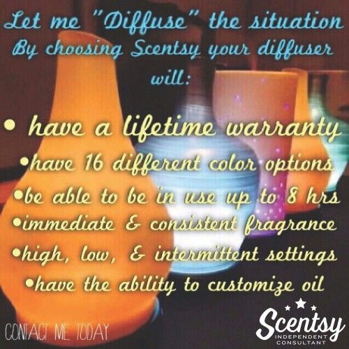 Scentsy Diffuser benefits Fall/Winter 2015, 3 Diffuser styles to choose from, will be available Sept. 1st. Order at: http://debbiewilson.scentsy.us/