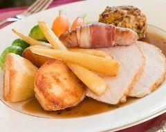 Côtelettes de porc, poires et panais au four Ingrédients