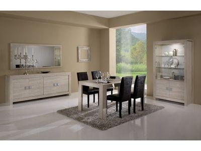 stunning sjour pisa chne blanchi soho with salon chene clair. Black Bedroom Furniture Sets. Home Design Ideas