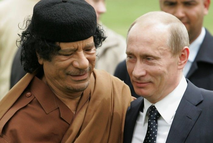 In a bid to cement relationship between Russia and Libya, Muammar Gaddafi had tried to become an architect of a political marriage