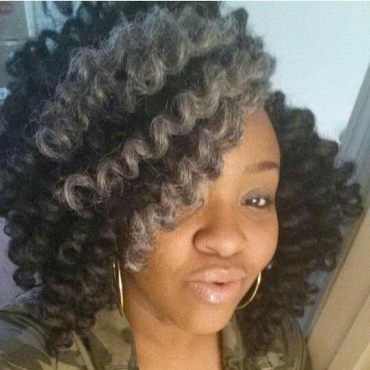 Live This Crochet Braids Style The Gray Gives It Flavor