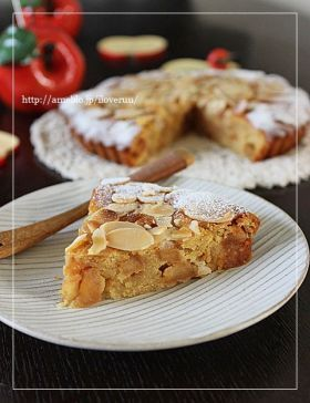 「キャラメル林檎のアーモンドケーキ」るぅ | お菓子・パンのレシピや作り方【corecle*コレクル】