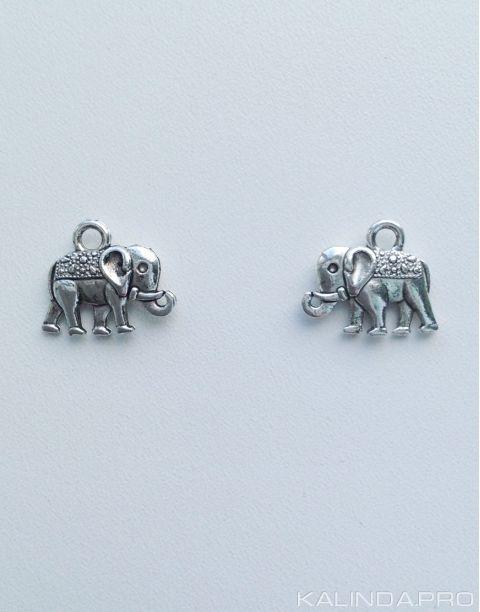 Металлическая подвеска в виде слона, двухсторонняя. Цена: 1 шт.- 15 р. Подробности: http://kalinda.pro/
