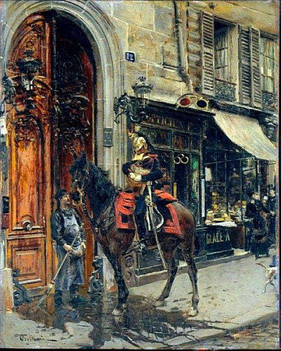 Курьер с письмом, 1879. Джованни Больдини