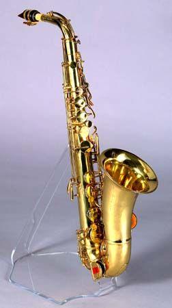 Alto saxophone by Adolphe Sax, Paris, ca. 1860.  It is beautiful, I wonder how it sounds.