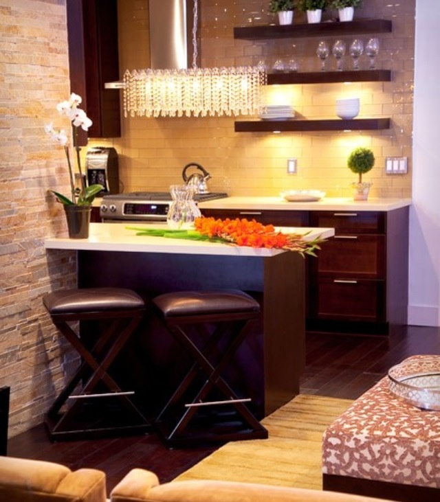 55 Best Images About Small And Narrow Kitchen Space On