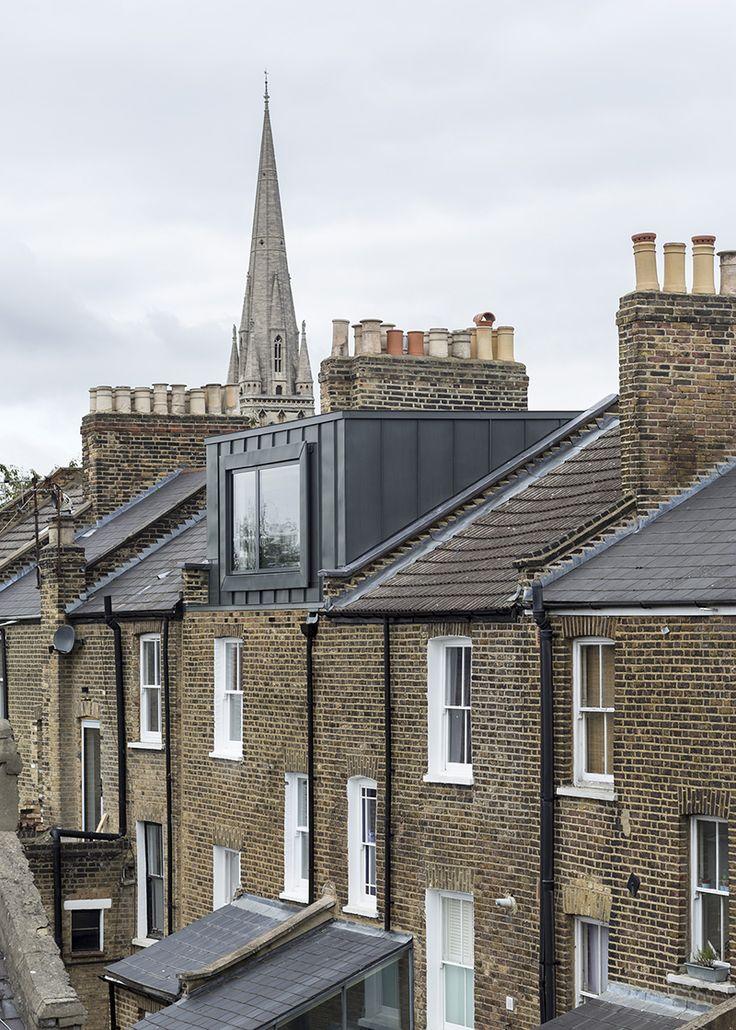 Loft conversion Modern zinc clad extension in Hackney London