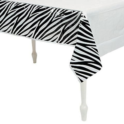 ZEBRA PARTY  Tablecover / Plastic tablecloth 137cm x 274cm Free Delivery