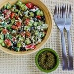 Kalyn's Kitchen: Recipe for Effie's Easy and Amazing Cottage Cheese Salad with Za'atar
