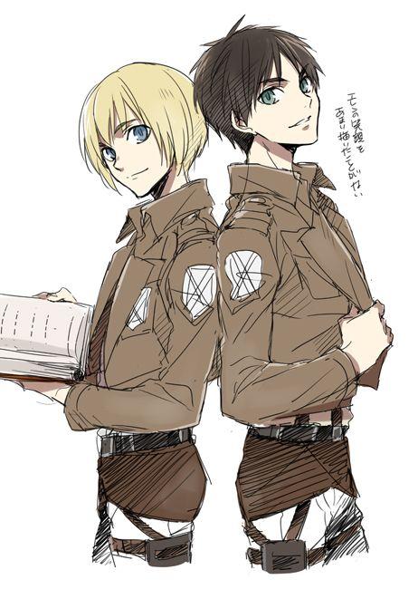 Armin & Eren. Attack on titan. 進撃の巨人. Shingeki no Kyojin. Атака титанов. #SNK. #AOT