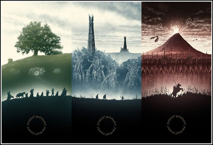 LOTR Trilogy Posters by Marko Manev