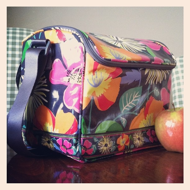 "Vera Bradley ""Stay Cooler"" keeps your lunch cold and has an adjustable shoulder strap. Great for picnics or beach days too!"