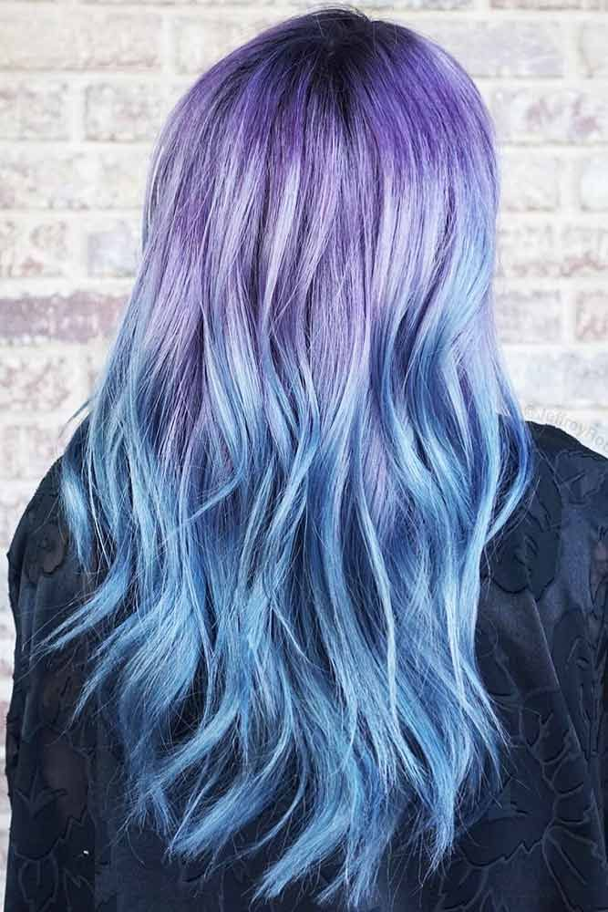 45 Trendy Styles For Blue Ombre Hair Lovehairstyles Com Blue Ombre Hair Purple Ombre Hair Ombre Hair Color
