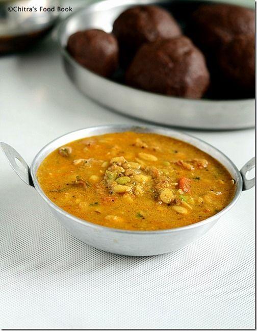 Chitra's Food Book: Hitikida Avarekalu Saaru Recipe/Lilva beans Gravy-...
