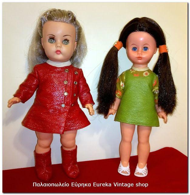Αριστερά. Κούκλα Μπέλλα από την δεκαετία 1970's με εντυπωσιακό space age ντύσιμο και πολύ σπάνια ασημί μαλλιά! Είναι σε πολύ καλή κατάσταση, και πολύ όμορφη. Καθαρή και εντυπωσιακά χτενισμένη.  Δεξιά. Κούκλα από την ελληνική εταιρία VIOPAD από την δεκαετία 1970's. Είναι σε πολύ καλή κατάσταση, με όμορφα ρούχα και ωραίες κοτσίδες, καθαρή έτοιμη για την συλλογή σας.