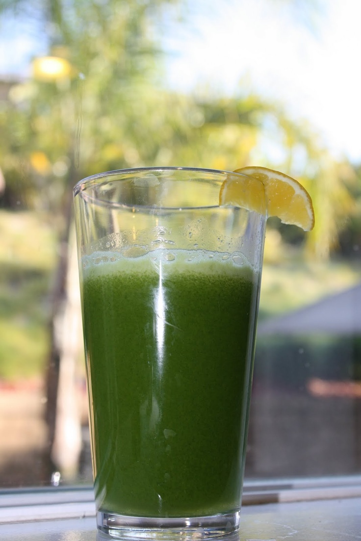 """""""Soothing Glow""""  Ingredients:  1 ½ cups of green or red grapes  1 Granny Smith Apple  ½ cucumber  2 stalks of celery  1 large handful of Spinach  1 small handful of mint    Run all the ingredients through your juicer. I topped the juice off with a squeeze of lemon juice and a wedge of lemon. Enjoy!"""