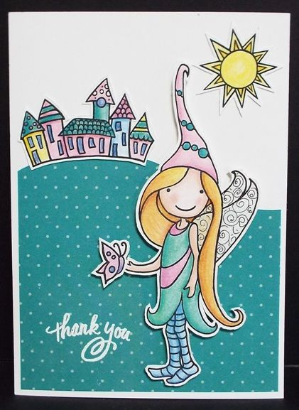 New Pink Your Life Whisper World Clear Stamp set from Stampendous. Julie Makela
