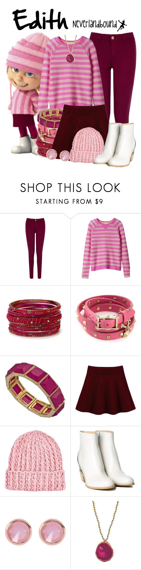 """Edith (Despicable Me) ~Neverlandbound"" by gallifreyangryffindor ❤ liked on Polyvore featuring Oasis, Rebecca Taylor, Forever 21, Valentino, Danielle Stevens, River Island, MM6 Maison Margiela, Ted Baker, Amanda Marcucci and WALL"