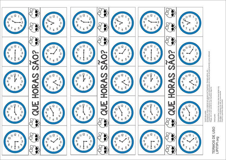 Estratégias de Ensino Lúdicas Medida de Tempo O Relógio