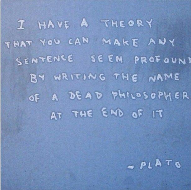 Fake Plato quote: Banksy New  York residency