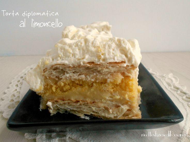 Torta diplomatica al limoncello - ricetta senza cottura