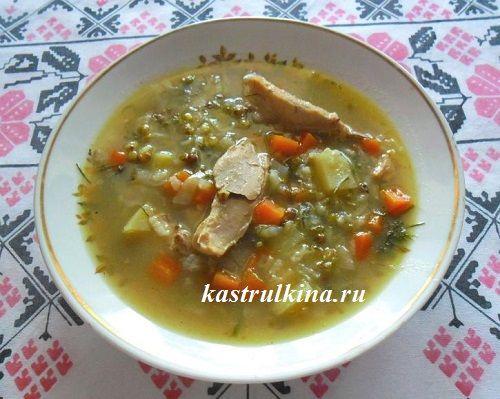Суп с машем по-уйгурски а микроволновке, пошаговые фото приготовления.
