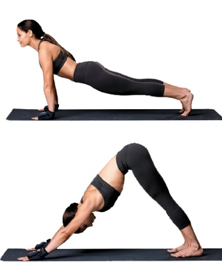 9 yoga moves by Trish stratus. Stratusphere Yoga...Introduced to me by Fit In Heels. Love this workout.