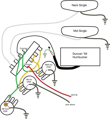 wiring diagram fender vintage noise less fender