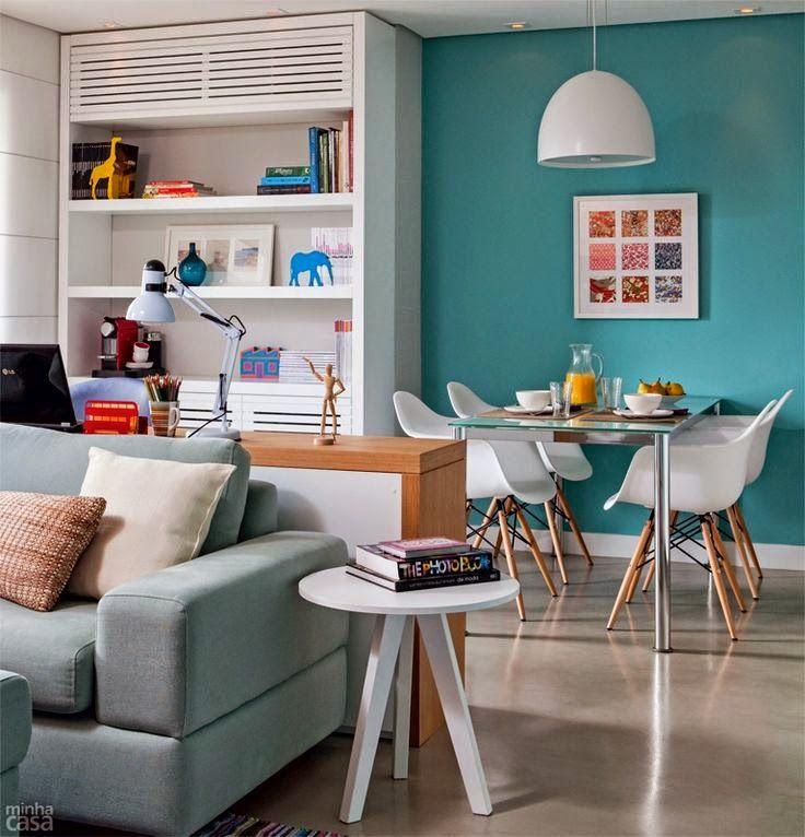 Decoração e Artesanato: Azul turquesa na decoração