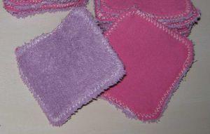 tuto diy de lingettes lavables en coton et éponge