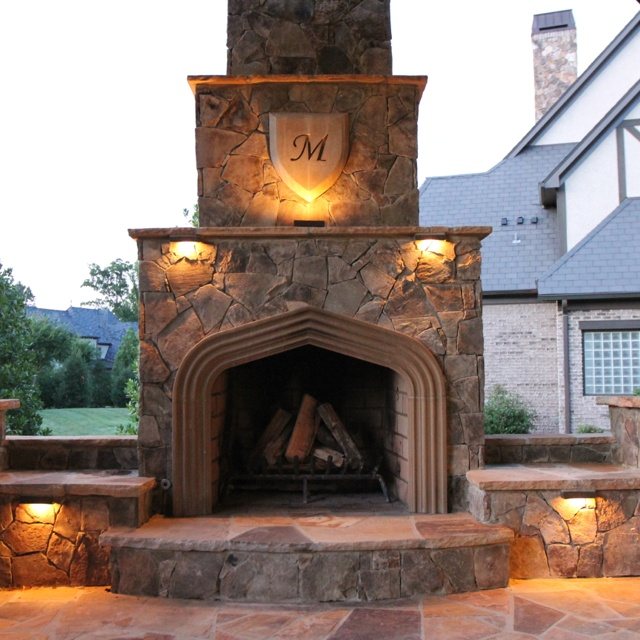 17 best images about charlotte outdoor fireplaces on for Outdoor fireplace landscaping