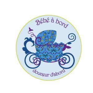Stickers bébé à bord landau bleu