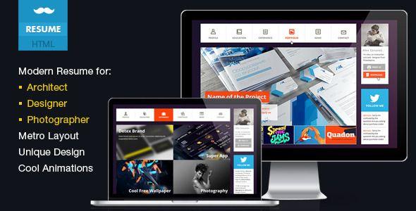 Mustache -Professional vCard Resume HTML | #webdesign #it #web #design #layout #userinterface #website #webdesign