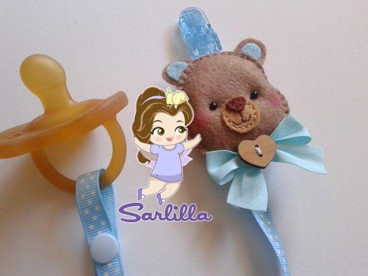 Le creazioni di Sarlilla: Porta-ciuccio orsetto